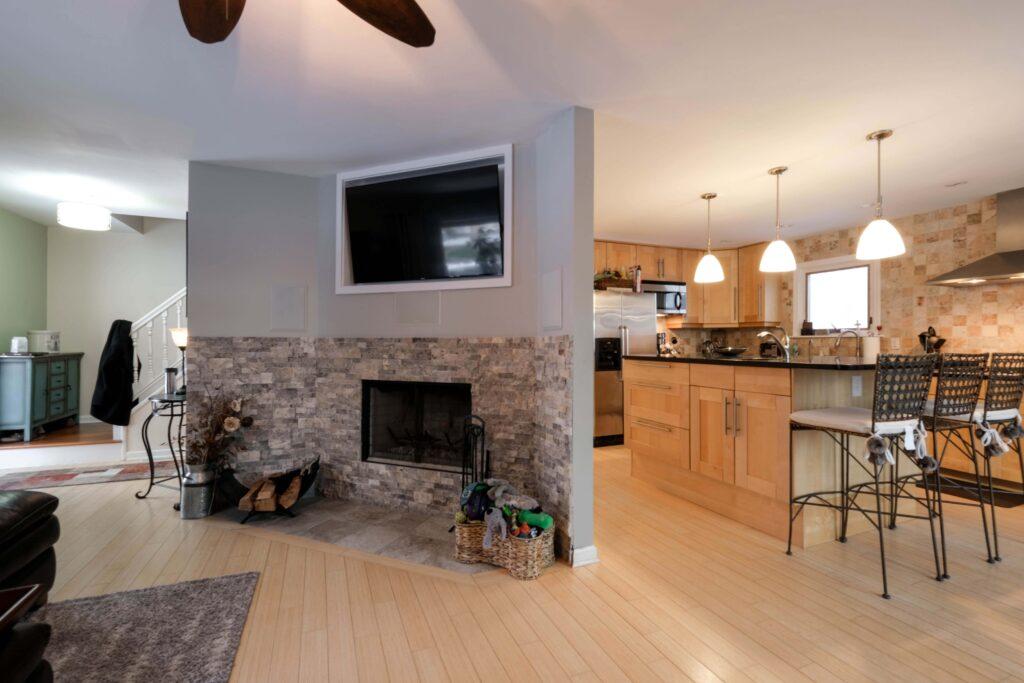 Open floor plane Living Kitchen