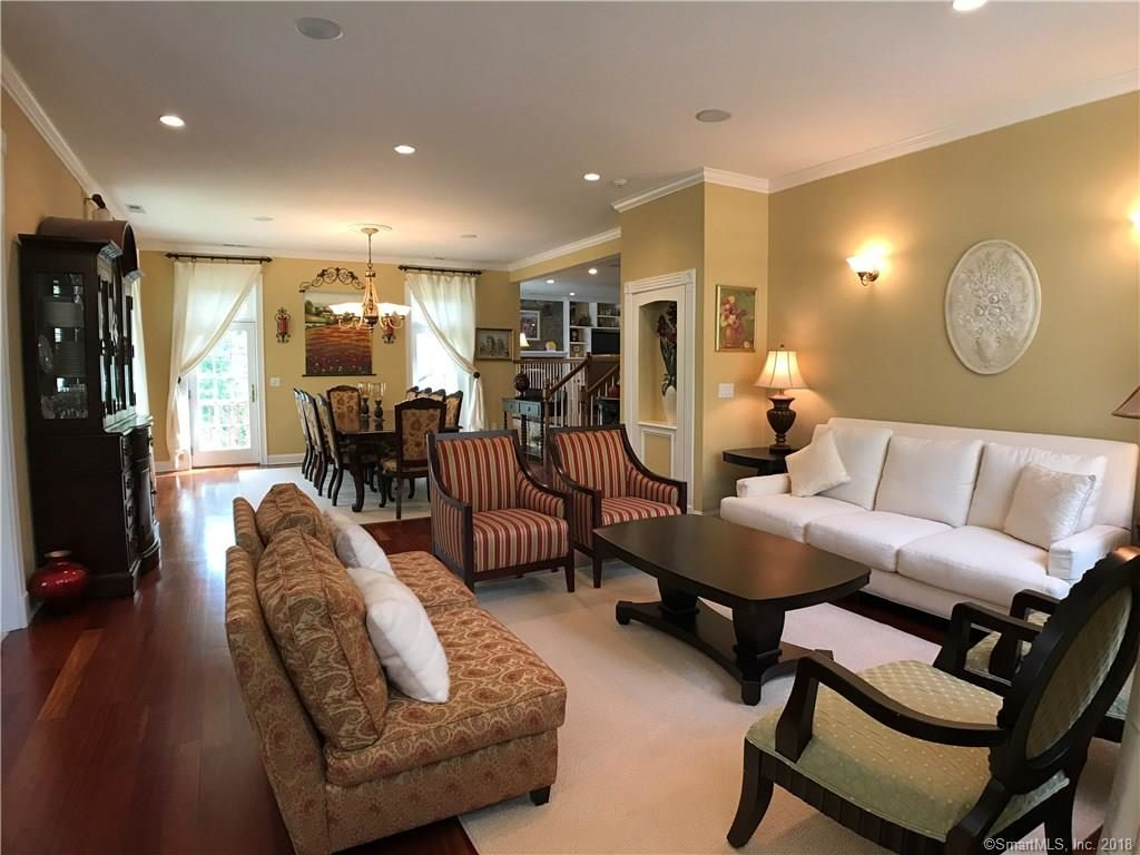 Living Room with open floor plan 2 Duck Pond Road Norwalk CT 06855-2023