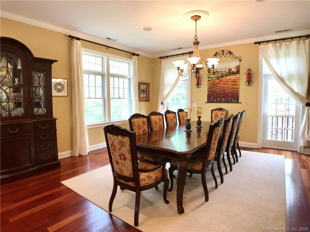 Dining Room with Brazilian cherry hardwood floors throughout