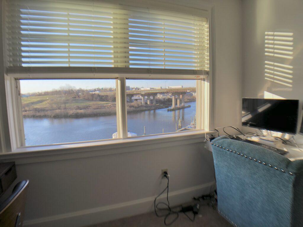Master Bedroom view 3 of 3 looking towards Norwalk River