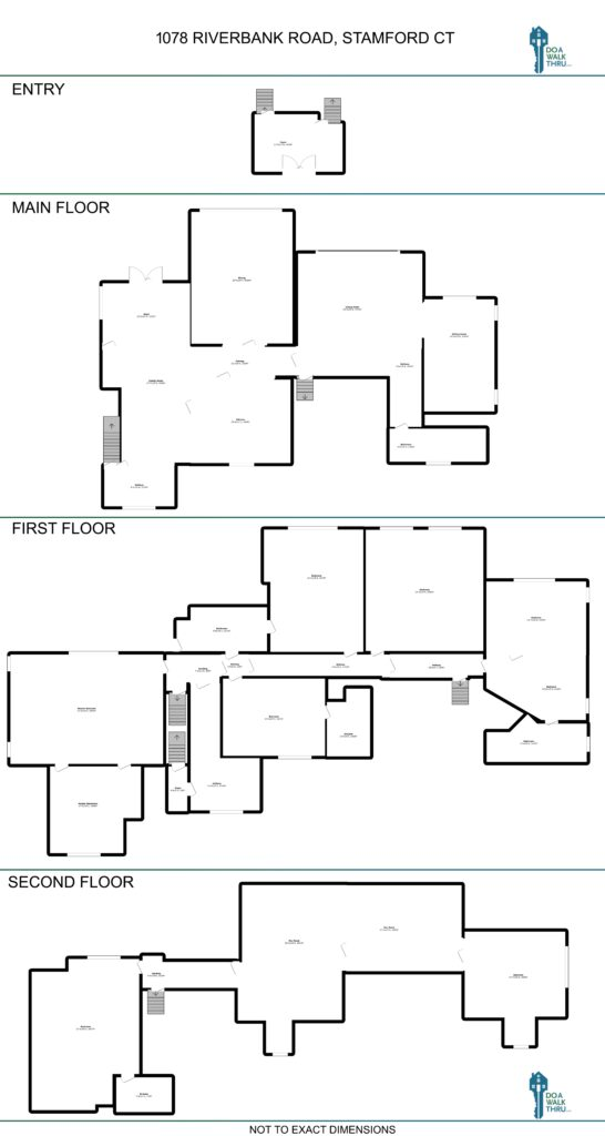 Floor Plan - Entry - Main - First - Second Floors (lower level not shown)