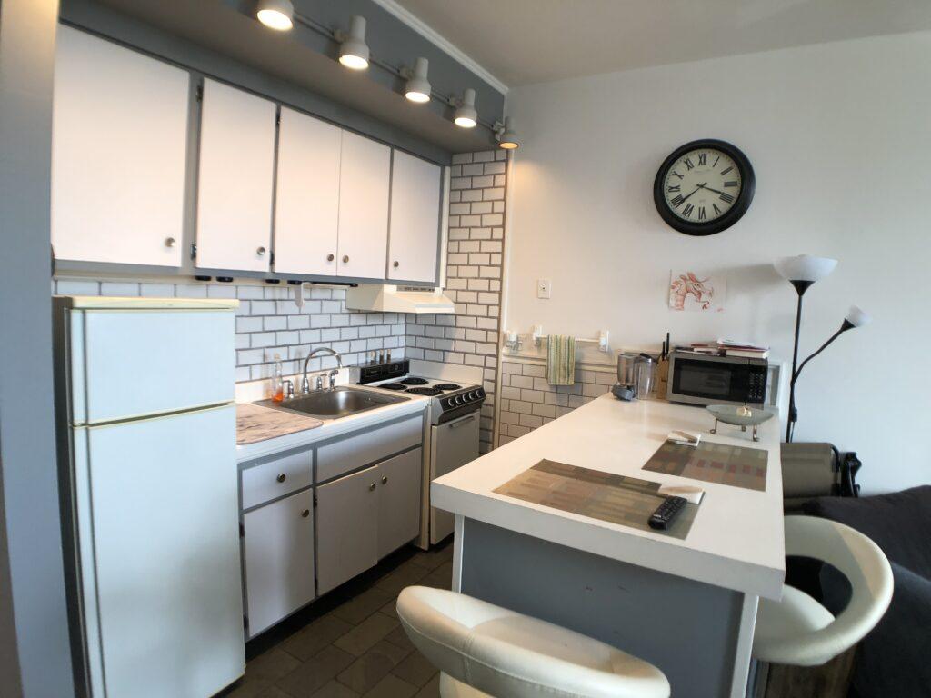 Kitchen view Studio For Rent 94 Washington St Unit 17 South Norwalk CT
