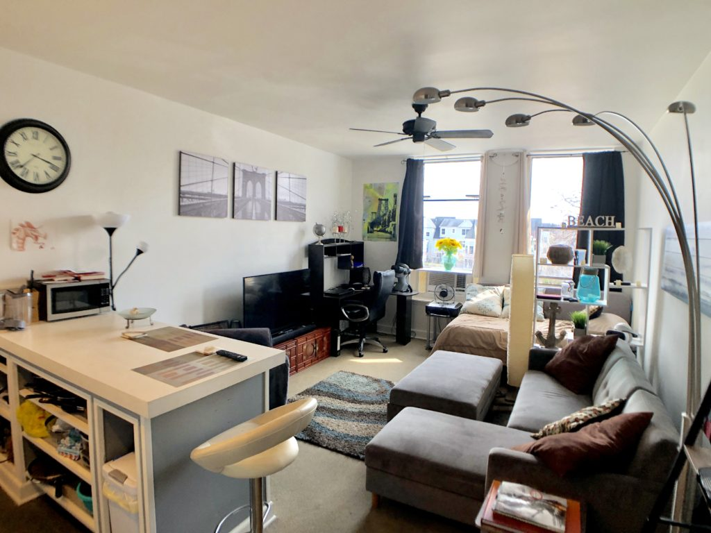 Living area Studio For Rent 94 Washington St Unit 17 South Norwalk CT